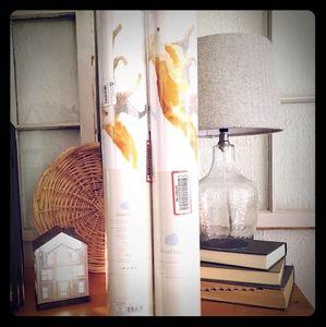 - Set of 2 peel and stick fox wallpaper